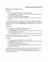 Airtame Instructions