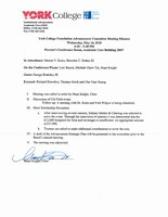 ADVANCEMENT COMMITTEE MEETING - Wednesday, May 16, 2018