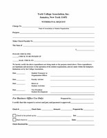 Association Withdrawal Request Form
