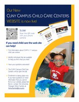 CUNY Campus Child Care Centers Website Live Flyer