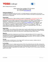 College Assistant Fact Sheet