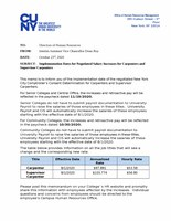 Implementation Dates for Negotiated Salary Increases for Carpenters and Supervisor Carpenters