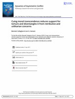 Cuing Moral Transcendence Reduces Support for Torture and Disentangles It from Retributive and Utilitarian Concerns