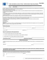 FMLA Certification of Family Relationship