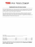 Student Honors Course Contract