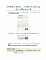 How to Self-Enroll to the SPARC Training site in Blackboard PDF