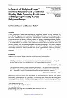 In Search of Religion Proper: Intrinsic Religiosity and Coalitional Rigidity Make Opposing Predictions of Intergroup Hostility Across Religious Groups