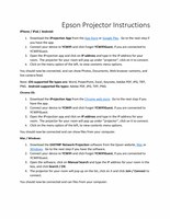 iprojection-instructions