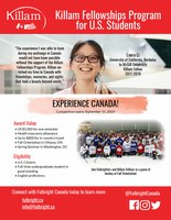 Killam Fellowships Program for U.S. Students