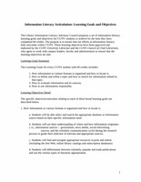 Information Literacy Articulation