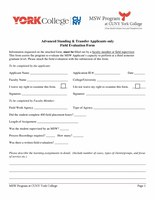 MSW Field Evaluation Form 7-30-19