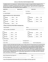 HEO and CLT Multiple Position Request Form