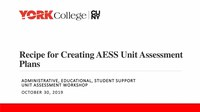 Recipe for Creating AESS Unit Assessment Plans