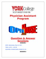 York College Physician Assistant Master's Program Open House