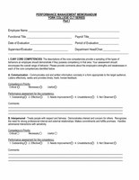 College Laboratory Technician Performance Management Memorandums