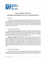 Procedures for Implementing the CUNY Lactation Room Policy
