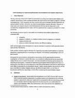 Reasonable Accommodations Procedures