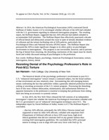 Resisting Denial of the Psychology Profession's Role in Post-9/11 Torture