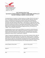 Confidentiality & Privacy Agreement
