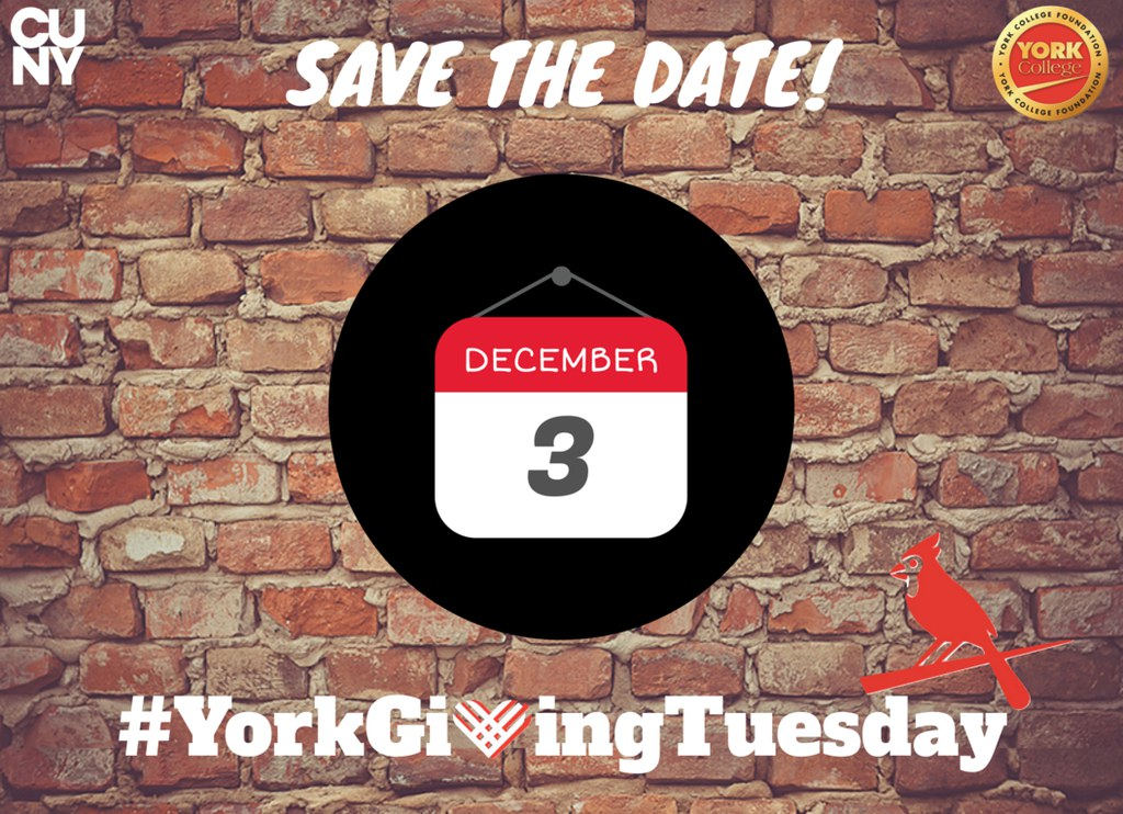 Save The Date! Decemeber 3rd #York Giving Tuesday