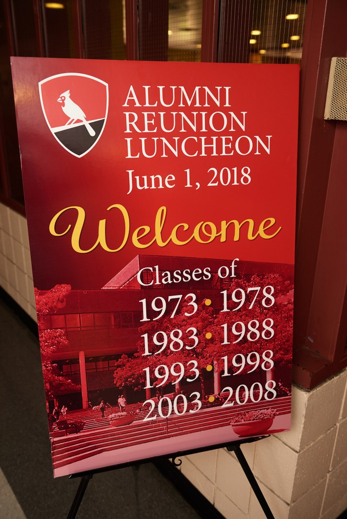 Welcome Sign to Class Reunion Luncheon