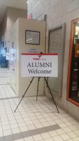 Alumni Welcome Sign at GYM