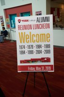 Welcome Sign for Alumni Reunion Luncheon