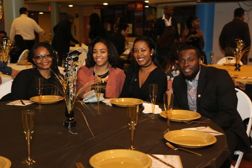Table of guests at the graduates dinner