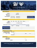 CUNYTuesday Payroll Deduction Form