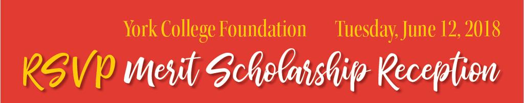 2018 Merit Scholarship Banner