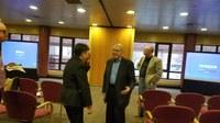 Dr. Martin Spergel conversing