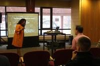 Dr. Aprile presenting on Dark Matter