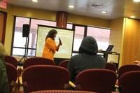 Dr. Aprile presenting