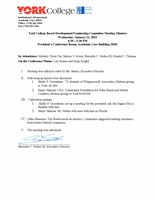 Board Development/Nominating Committee Meeting Minutes
