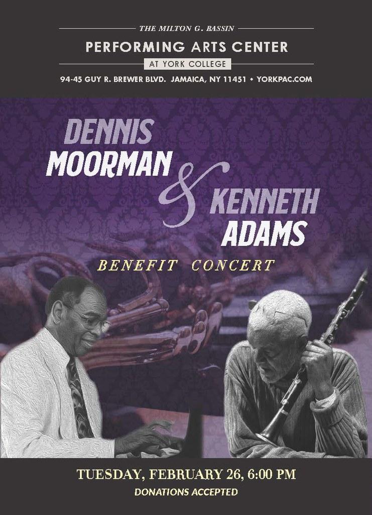 Flyer for Benefit Concert