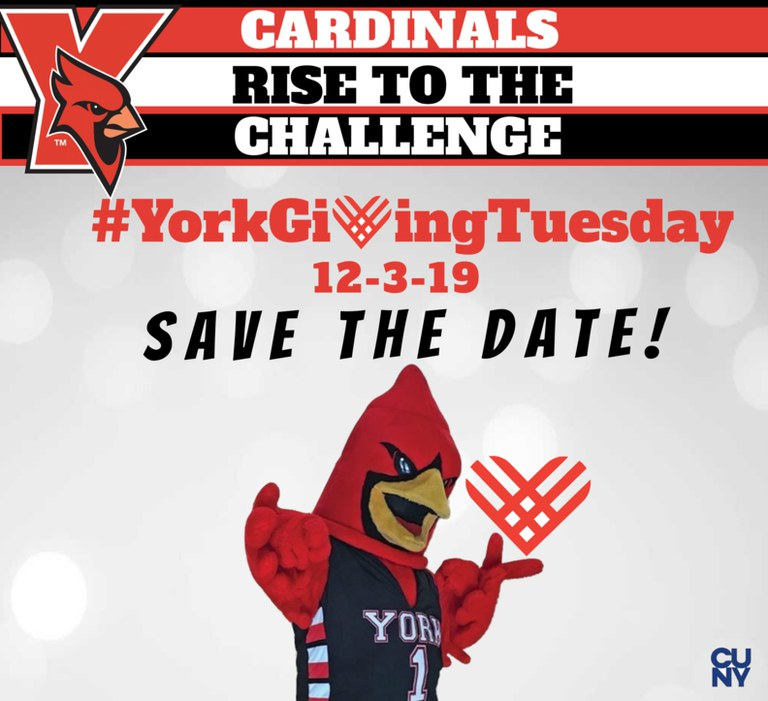 Cardinals Rise to the Challenge, York Giving Tuesday 12-3-19 Save the Date