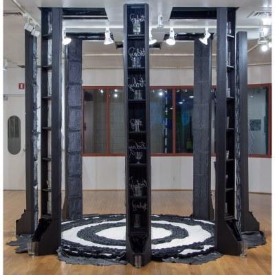view of Elizabeth Velazquez installation
