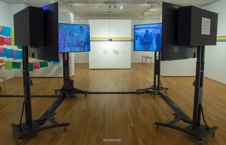Photo of 360/VR video multi-channel installation