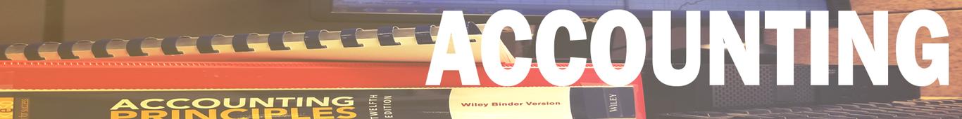 Accounting header image.