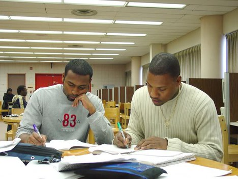 York Students in Library