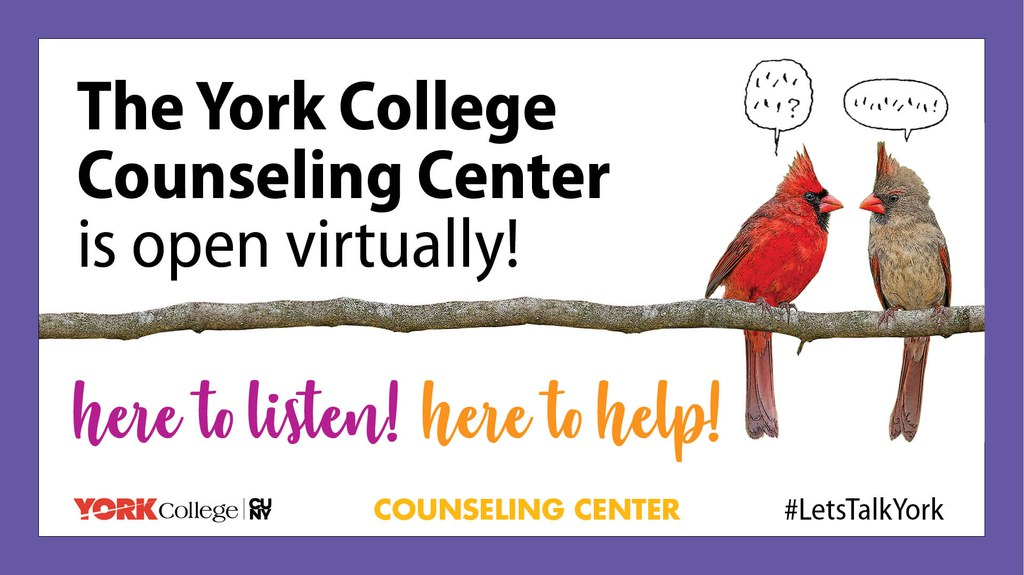 The York College Counseling Center is open virtually