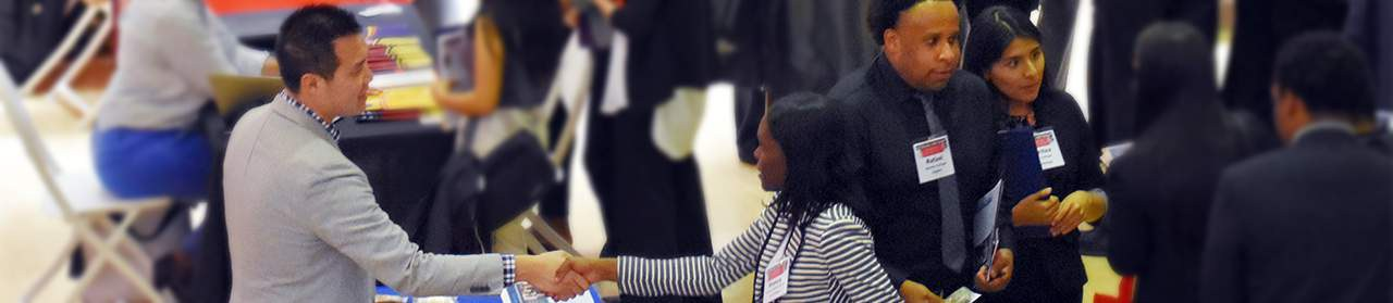Students at the 2018 Career Fair