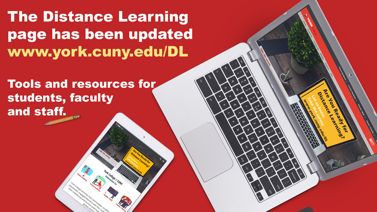The Distance Learning page has been updated. Tools and resources for student, faculty and staff.