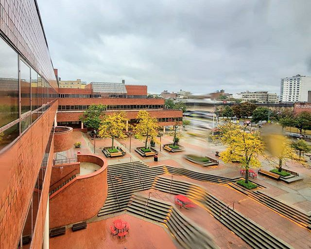 Birdseye view of York College Plaza