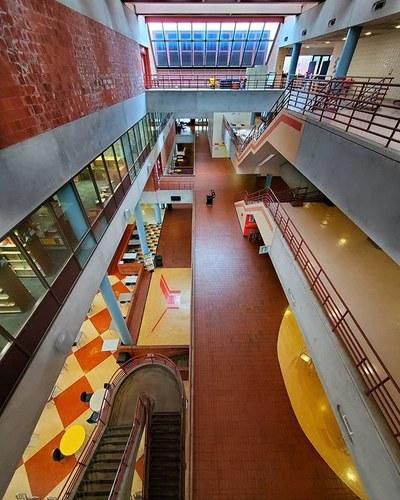 Birdseye view of the York College Atrium