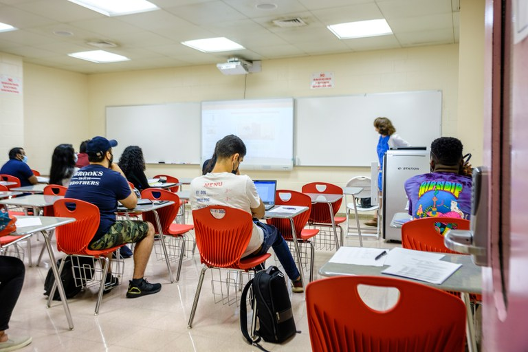 Students and Faculty in the classroom