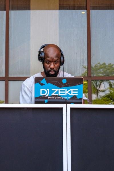 DJ Zeke with headphones