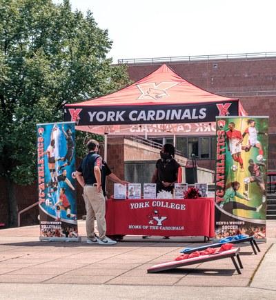 York Cardinals information booth