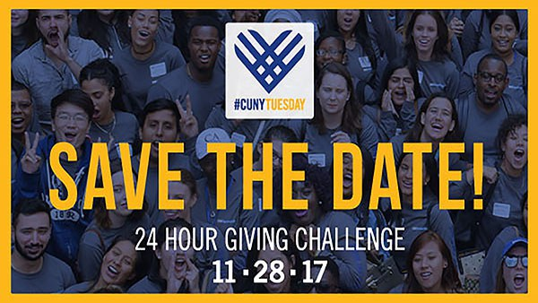 #CUNYTuesday Save the Date, 24 hours giving challenge 11-28-17