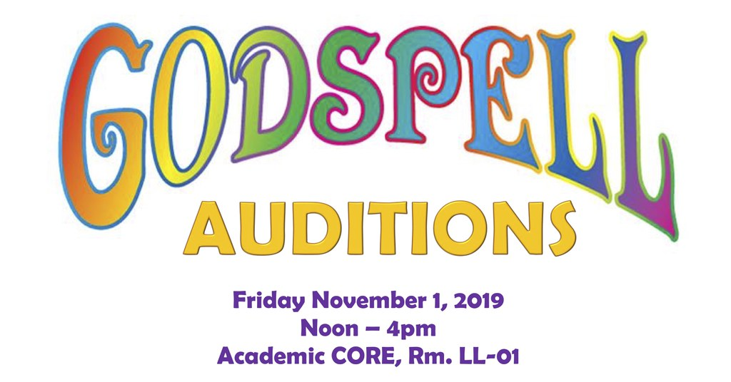 Audition Announcement for Godspell
